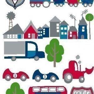 Kids Concept Seinäkoriste Auto/sininen