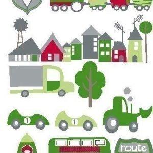 Kids Concept Seinäkoriste Auto/vihreä