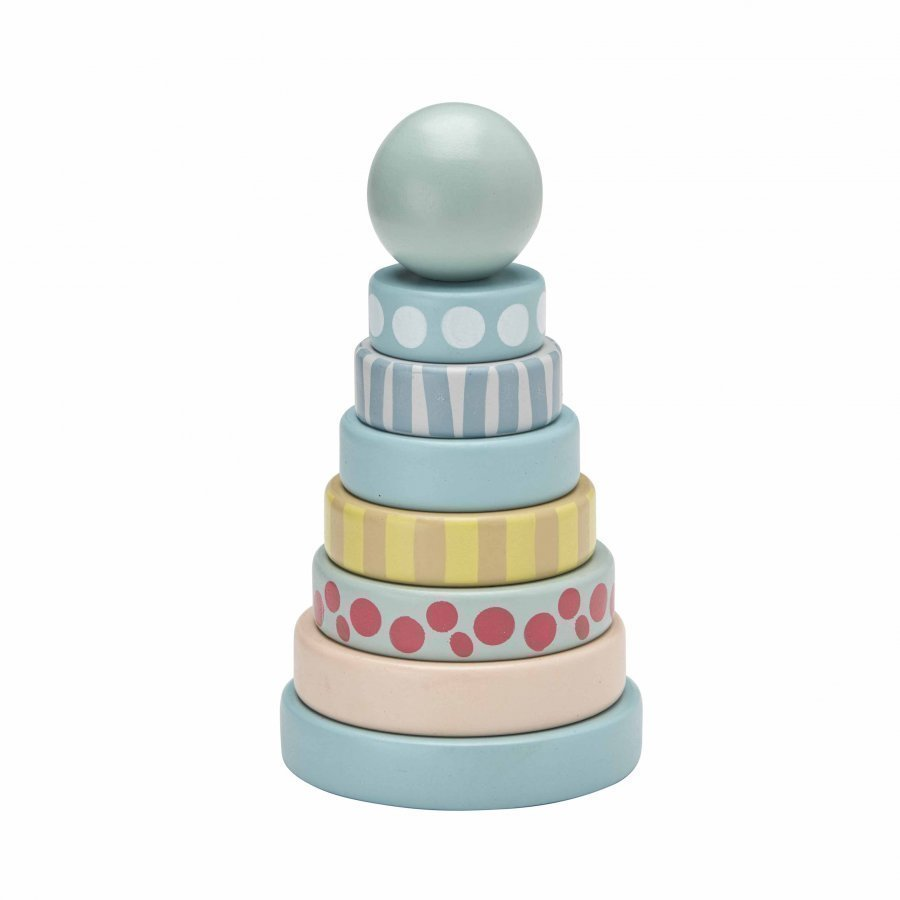 Kids Concept Stacking Rings Edvin Green Aktiviteettilelu