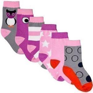 Kids Concept Sukat 6 kpl Poppy Vaaleanpunainen