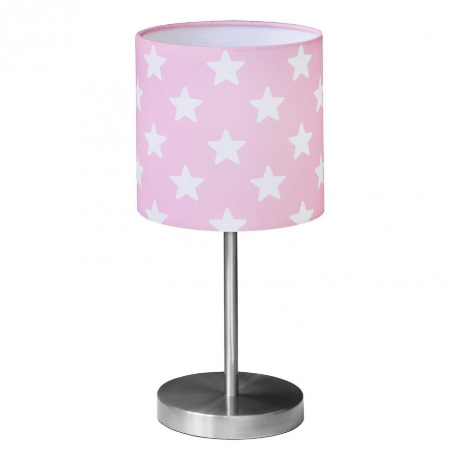 Kids Concept Table Lamp Star Pink/White Pöytävalaisin