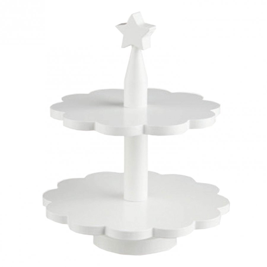 Kids Concept Toy Cake-Stand White Aktiviteettilelu