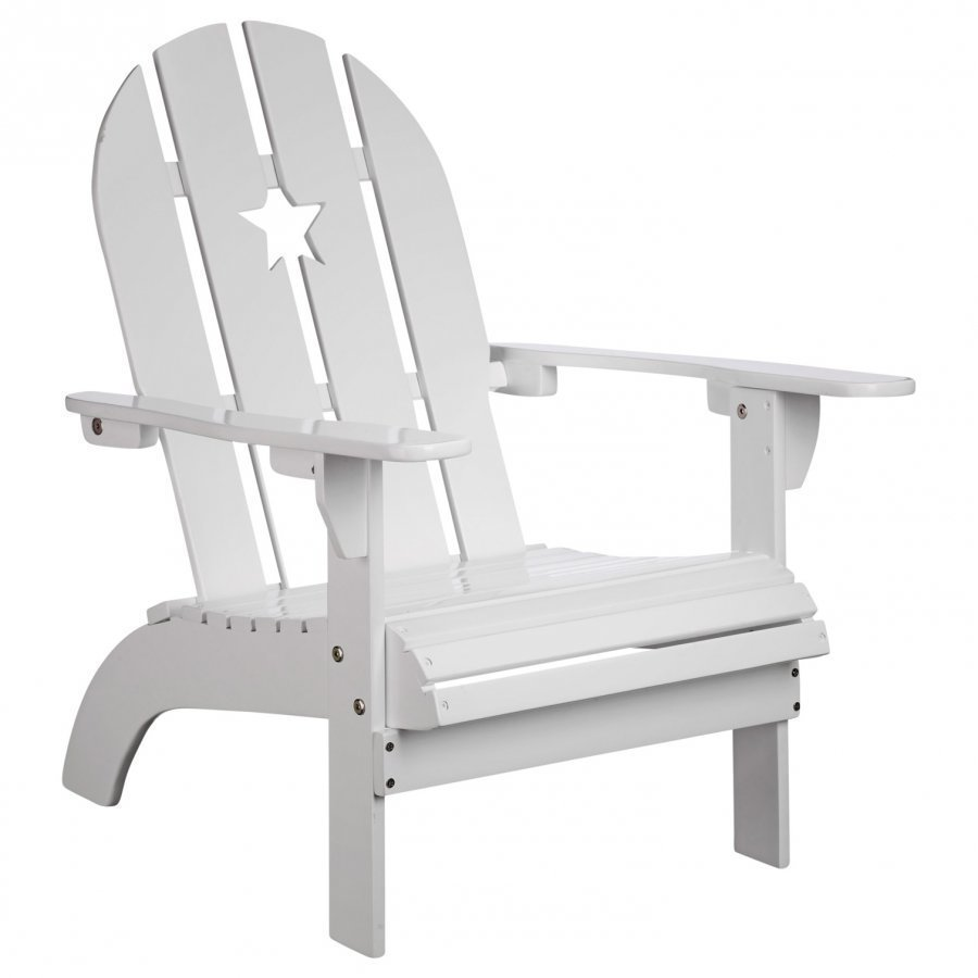 Kids Concept White Patio Chair With Star Tuoli
