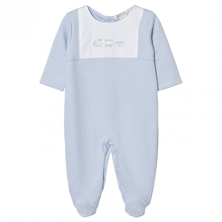Kissy Kissy Footed Baby Body Jacquard Pale Blue Body