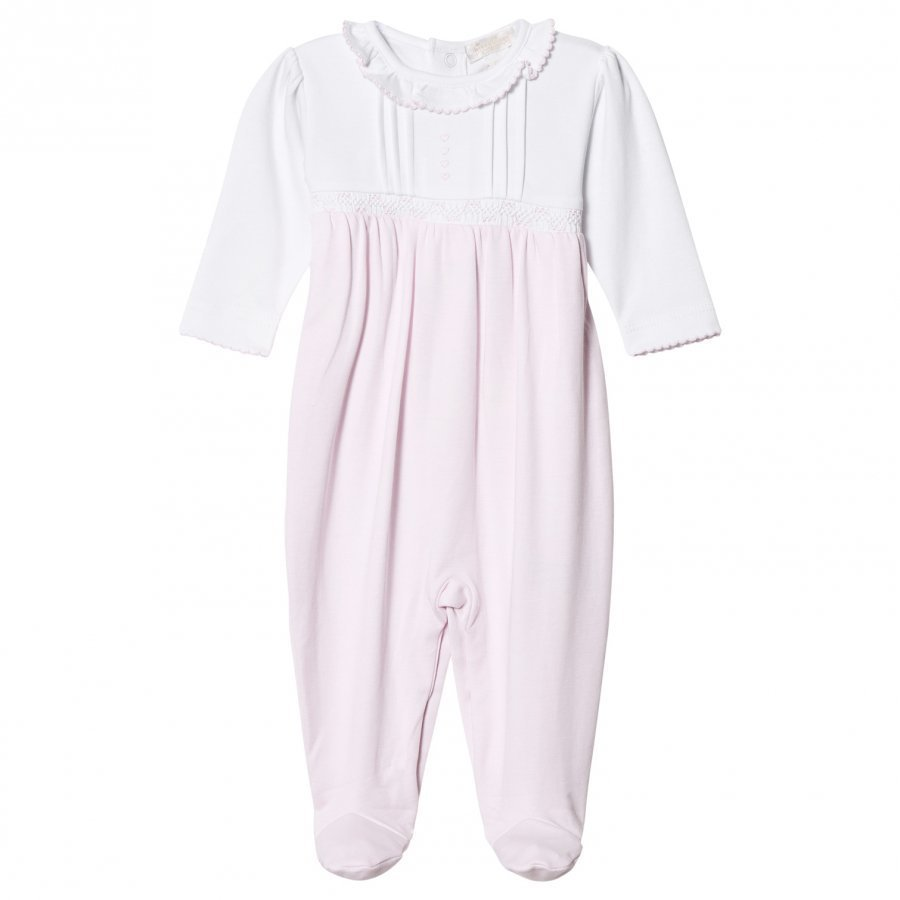 Kissy Kissy Pink And White Heart Footed Baby Body Asusetti