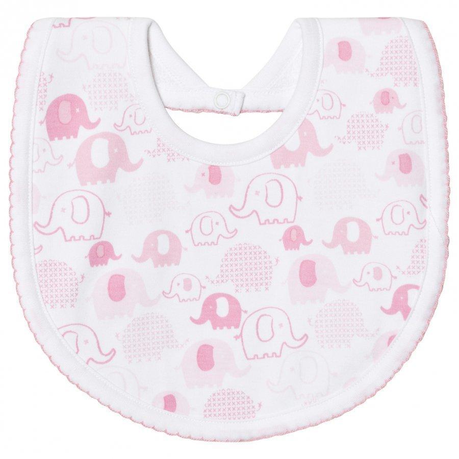 Kissy Kissy Pink Elephant Print Bib Ruokalappu