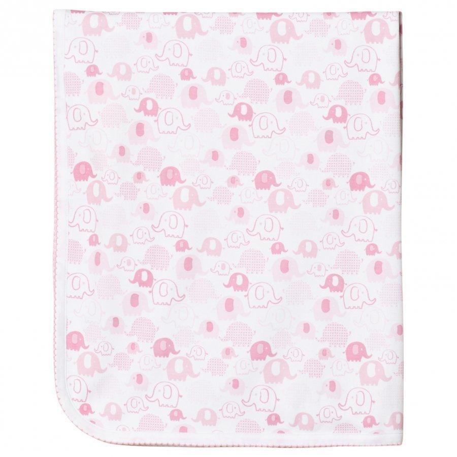 Kissy Kissy Pink Elephant Print Blanket Huopa
