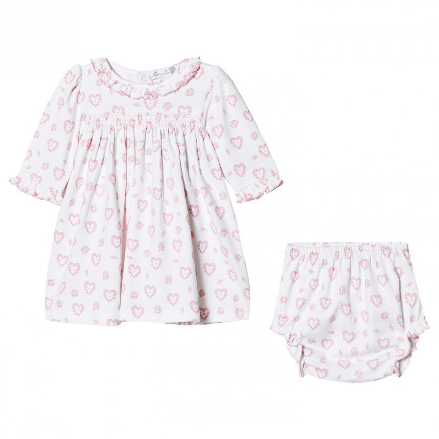 Kissy Kissy Pink Floral Heart Print Dress And Knickers Set Asusetti