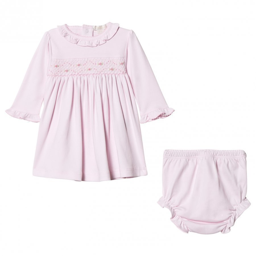 Kissy Kissy Pink Rose Smocked Frill Dress Mekko