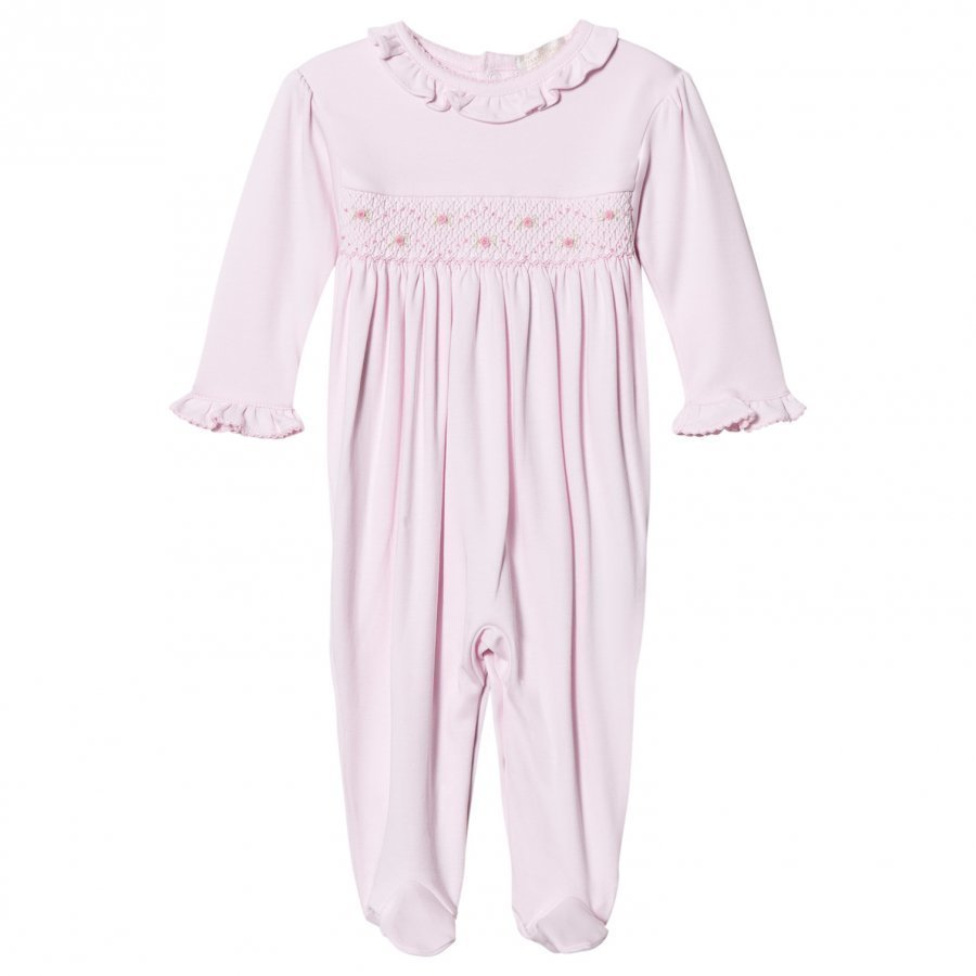 Kissy Kissy Pink Rose Smocked Frill One-Piece Body