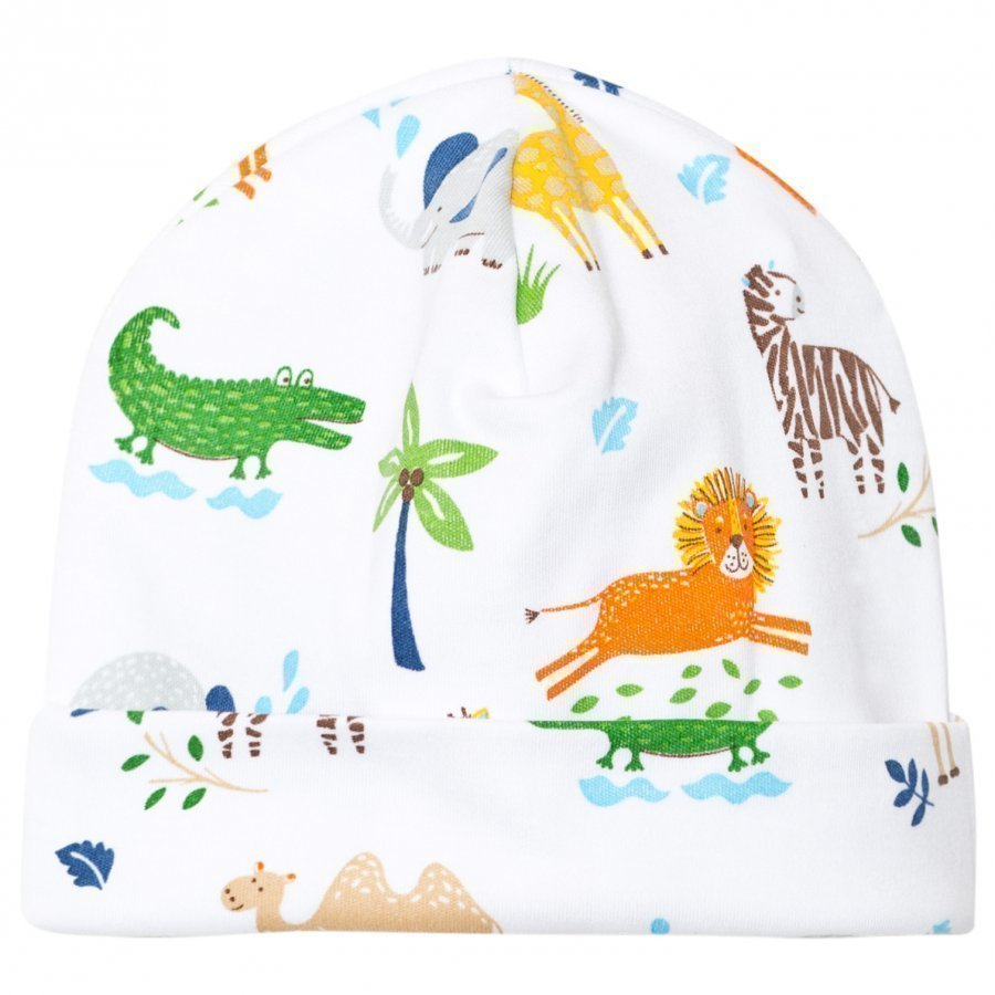 Kissy Kissy White Jungle Print Hat Pipo