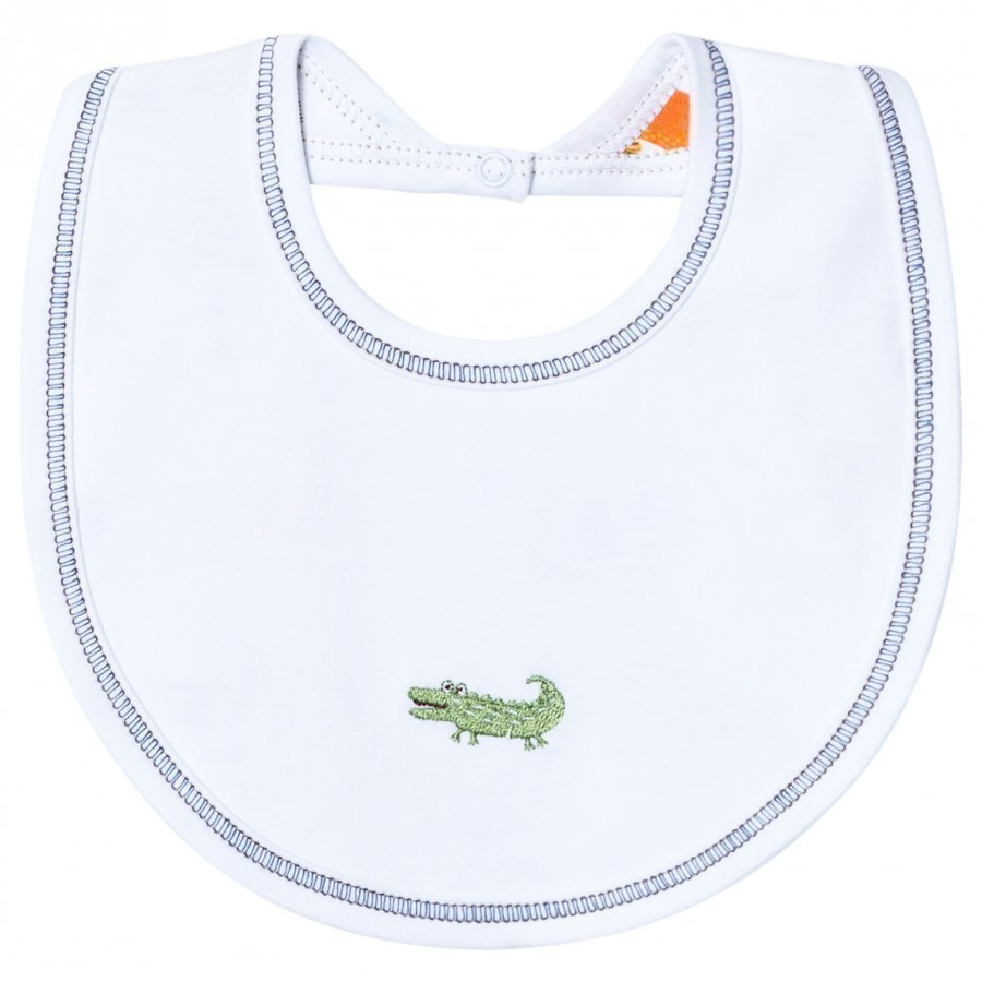 Kissy Kissy White Jungle Print Reversible Bib Ruokalappu