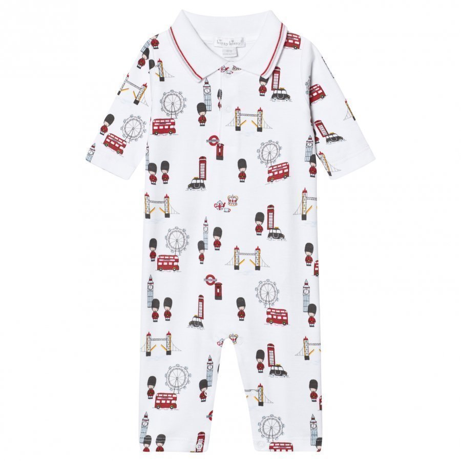 Kissy Kissy White London Landmarks Baby One-Piece With Collar Body