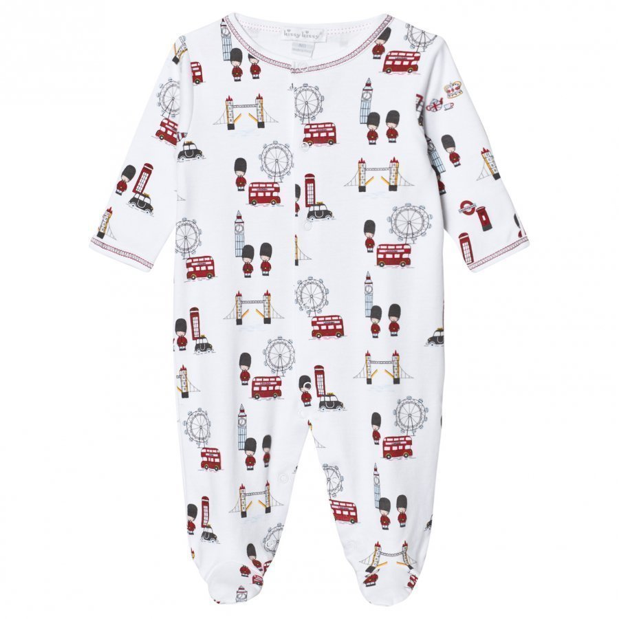 Kissy Kissy White London Landmarks Jersey Footed Baby Body
