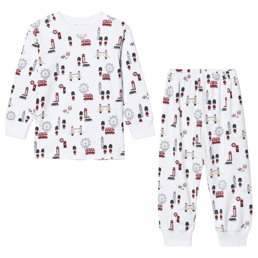 Kissy Kissy White London Landmarks Print Pyjamas Yöpuku