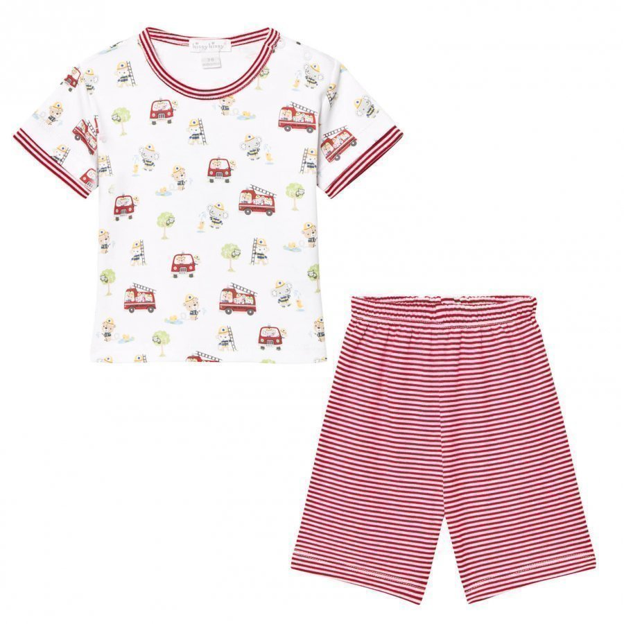 Kissy Kissy White Red Stripe Set Asusetti