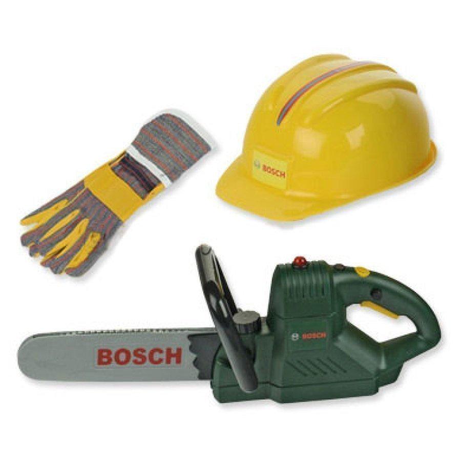 Klein Bosch Mini Ketjusaha Kypärä Ja Käsineet 8435