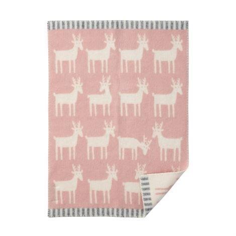 Klippan Yllefabrik Dear Lasten Huopa Pale Pink Vaaleanpunainen