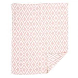 Klippan Yllefabrik Diamonds Baby Puuvillaviltti Vaaleanpunainen 70x90 Cm