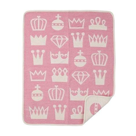Klippan Yllefabrik Royal Chenillehuopa Vaaleanpunainen