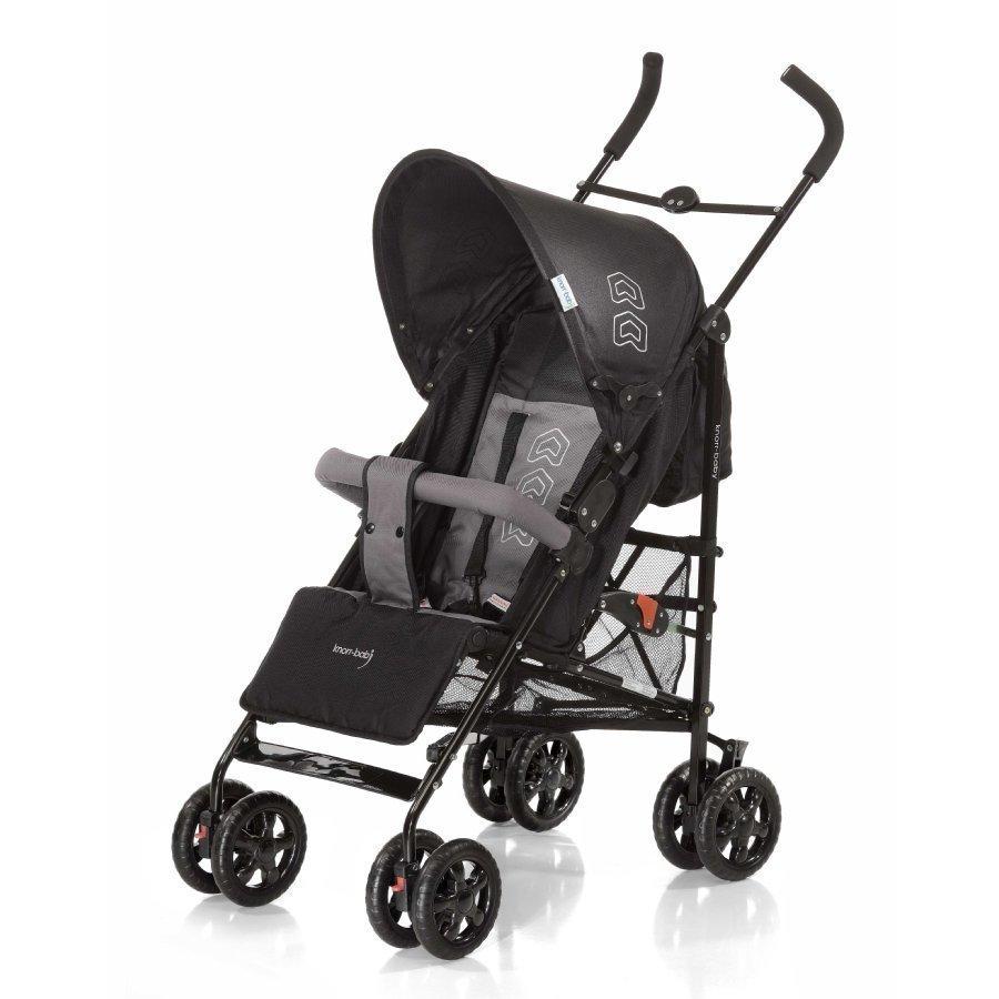 Knorr Baby Commo Musta / Harmaa Matkarattaat