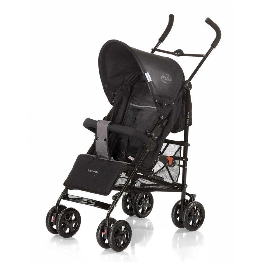 Knorr Baby Commo Sport Musta / Vaaleanharmaa Matkarattaat