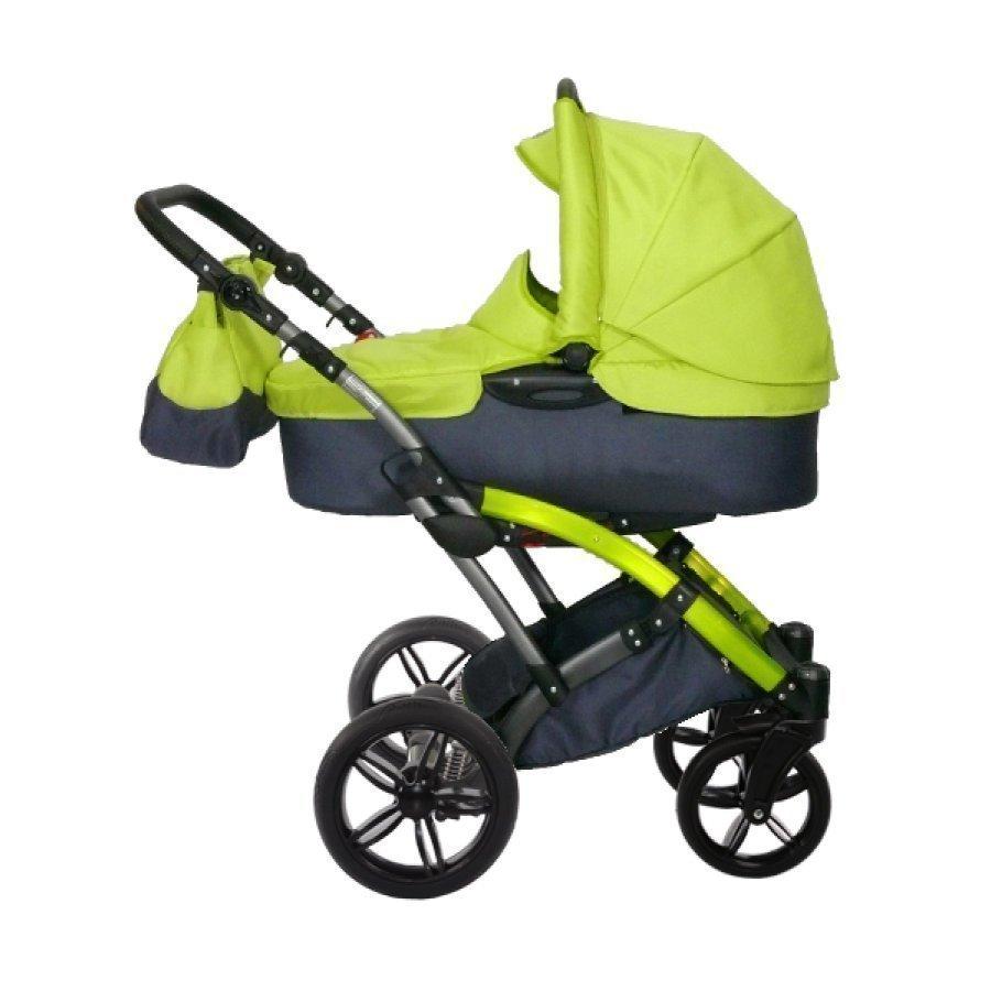 Knorr Baby Voletto Sport Musta Sitruuna Yhdistelmävaunut