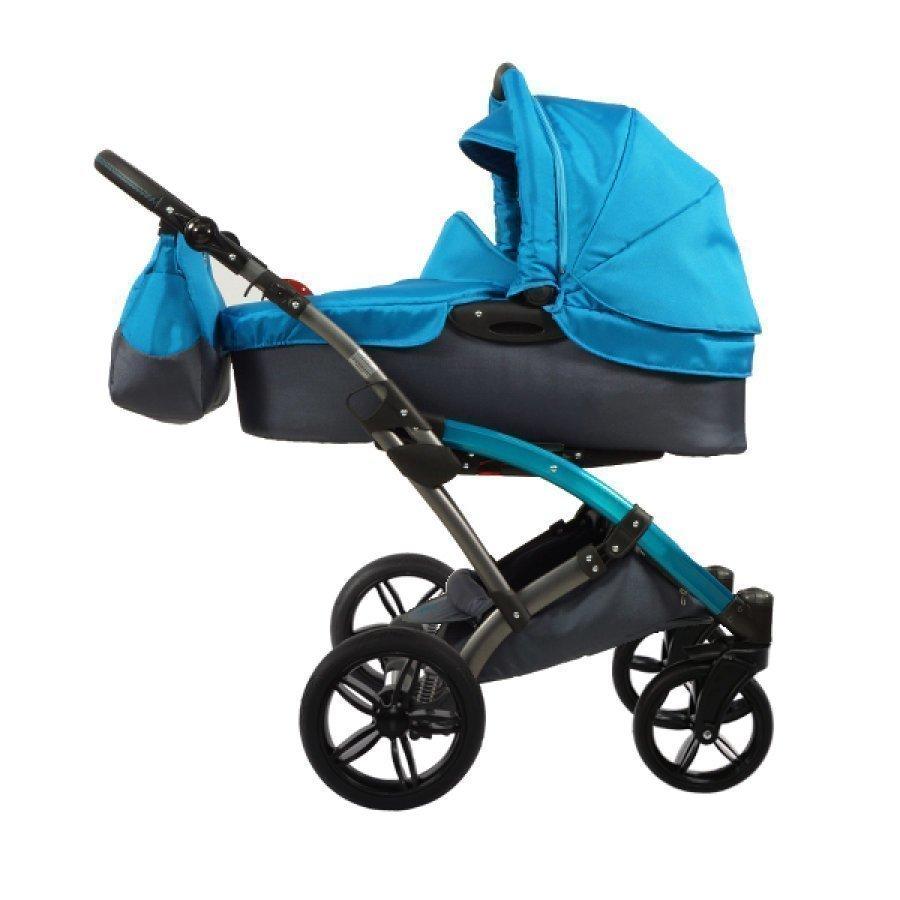 Knorr Baby Voletto Sport Musta Turkoosi Yhdistelmävaunut