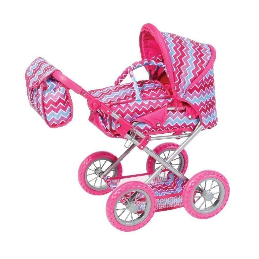 Knorr Toys Nuken Yhdistelmävaunut Ruby Pink Zigzag