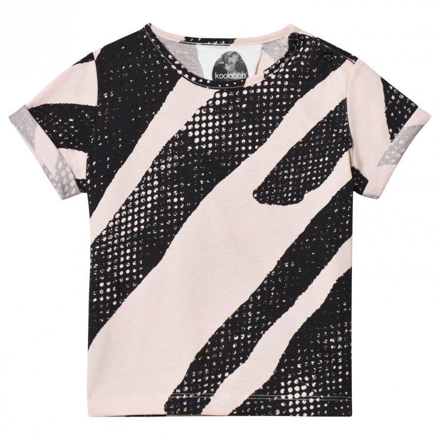 Koolabah Black Lines Tee Pink/Black T-Paita