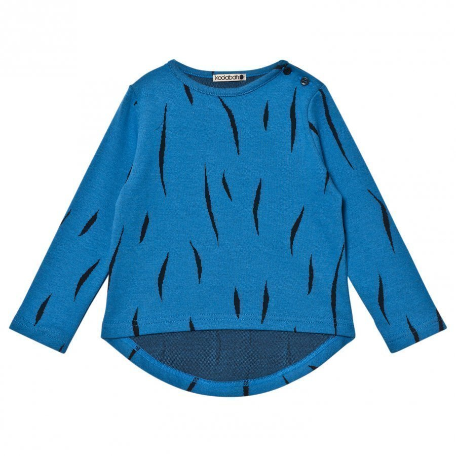 Koolabah Hairy Long Sleeve Tee Blue Pitkähihainen T-Paita
