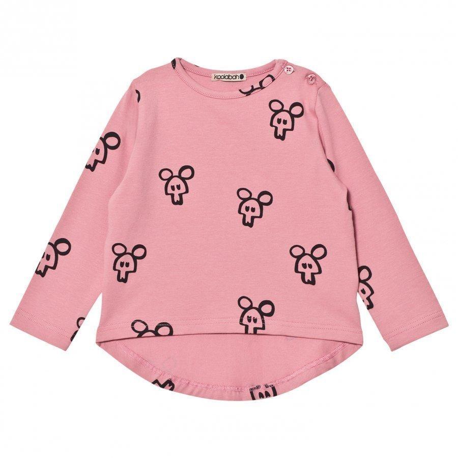 Koolabah Pink Mouse In Da House Long Sleeve Tee Pitkähihainen T-Paita