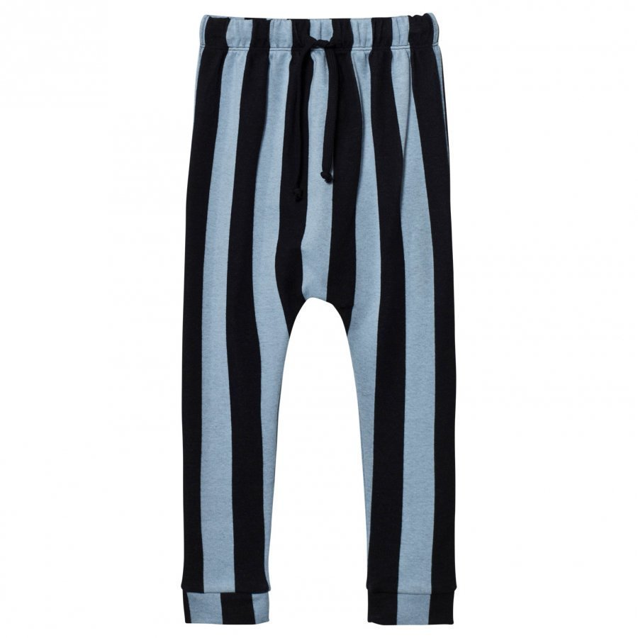 Koolabah Striped Slouch Pant Black/Light Blue Housut