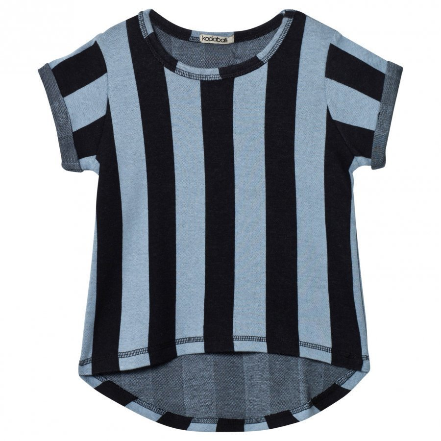 Koolabah Striped Tee Black/Light Blue T-Paita