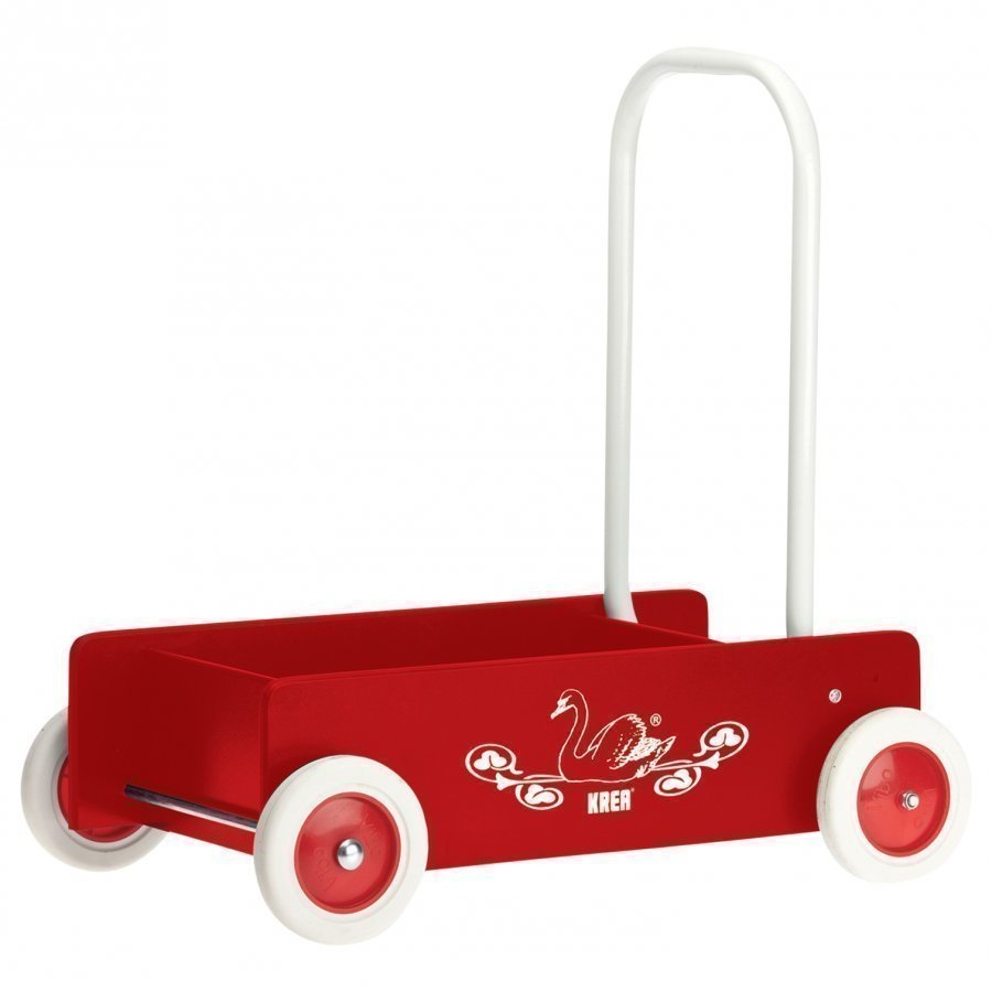Krea Wooden Baby Walker Red Ajettava Lelu