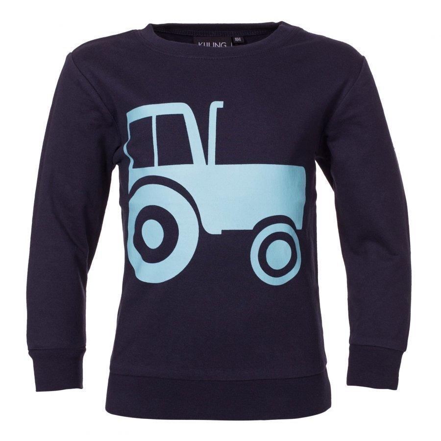 Kuling Basic Sweatshirt Traktor Navy/Ljusblå Oloasun Paita