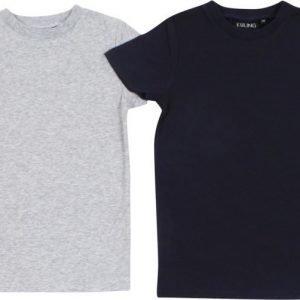 Kuling Basic T-paita 2 kpl Navy/Harmaa Meleerattu