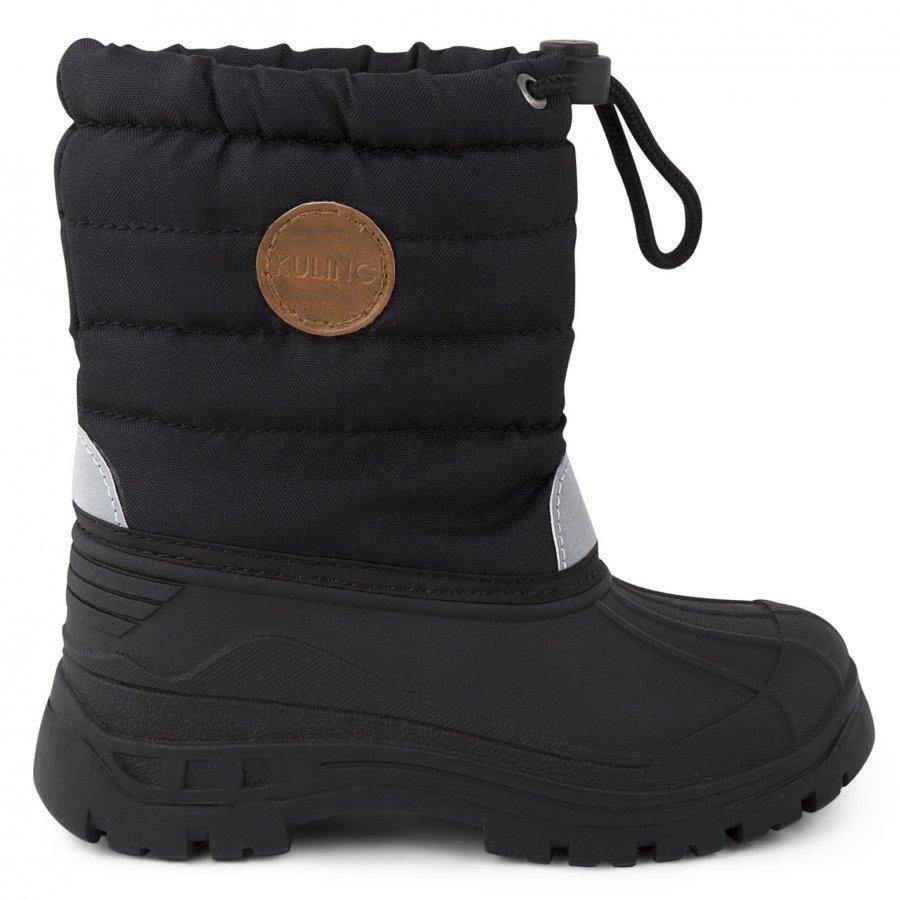 Kuling Shoes Vinterstövel Fodrad Black Talvisaappaat