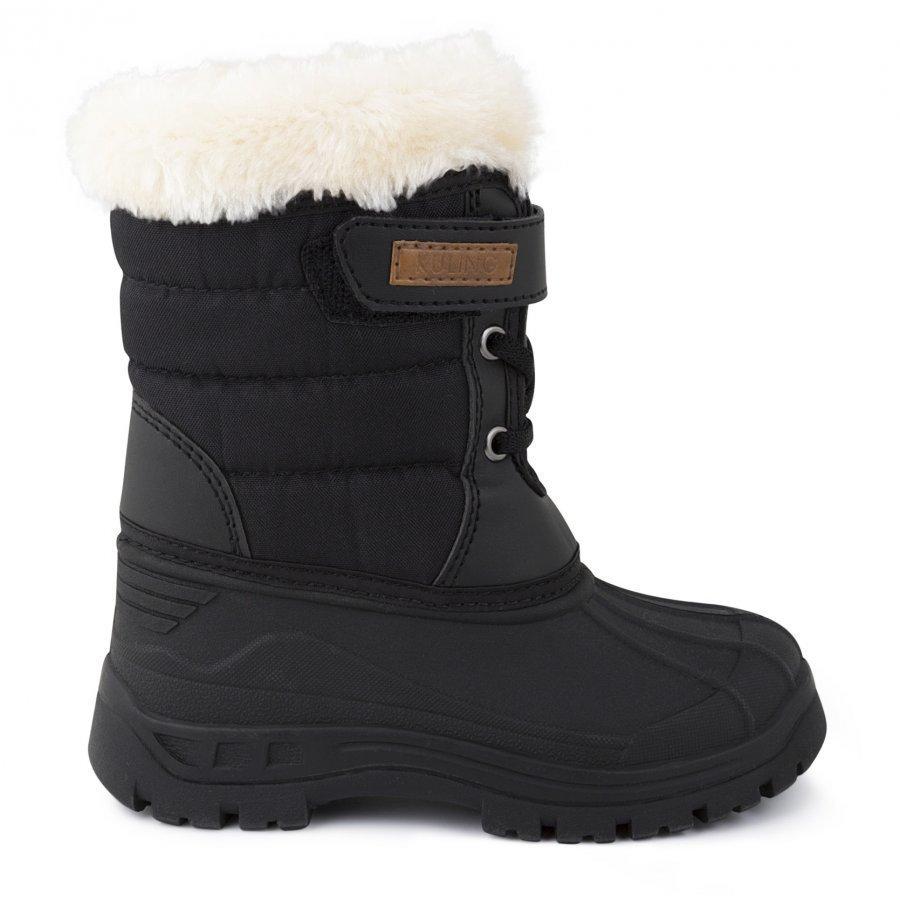 Kuling Shoes Vinterstövel Med Pälskant Black Talvisaappaat