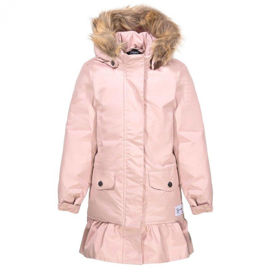 Kuling Trend Vinterkappa Med Volang Old Pink Talvitakki