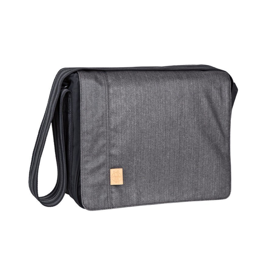 Lässig Hoitolaukku Messenger Bag Casual Twill Black