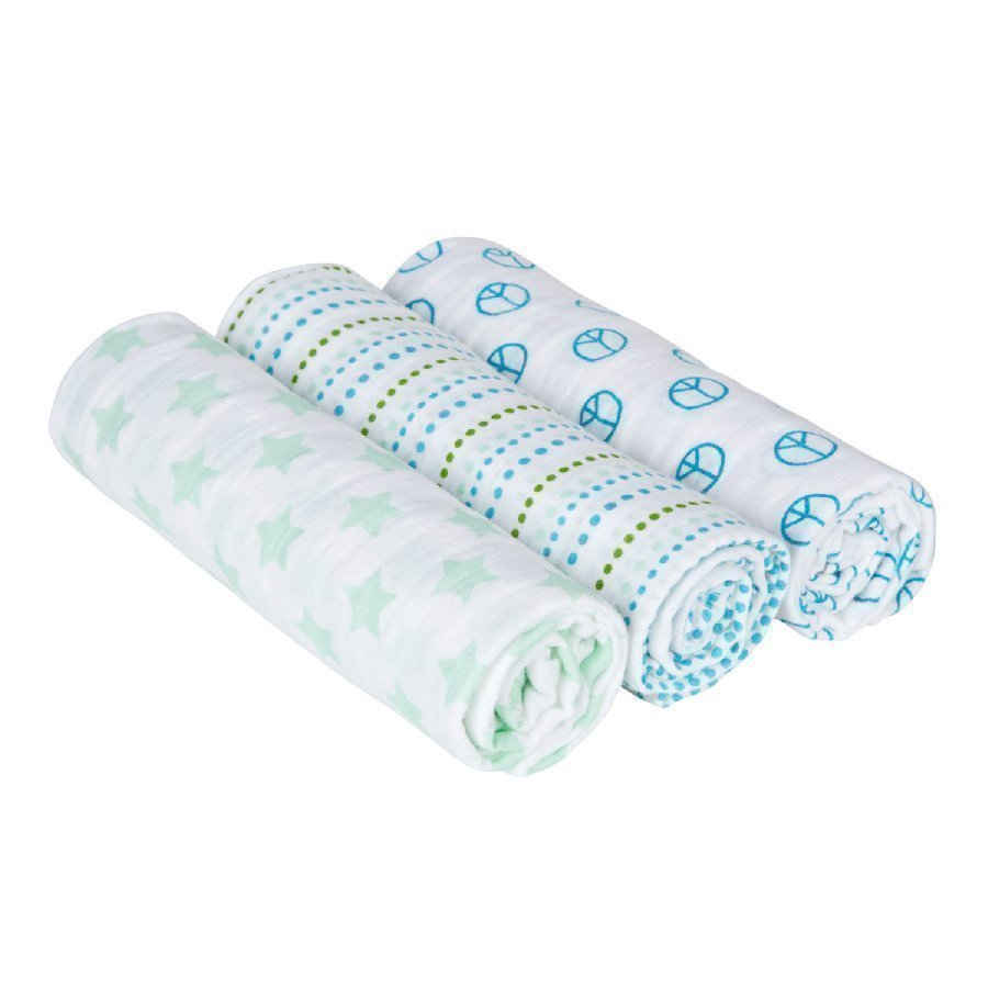 Lässig Hoitoliina Swaddle & Burp Blanket Sweet Dreams Boys 85 X 85cm