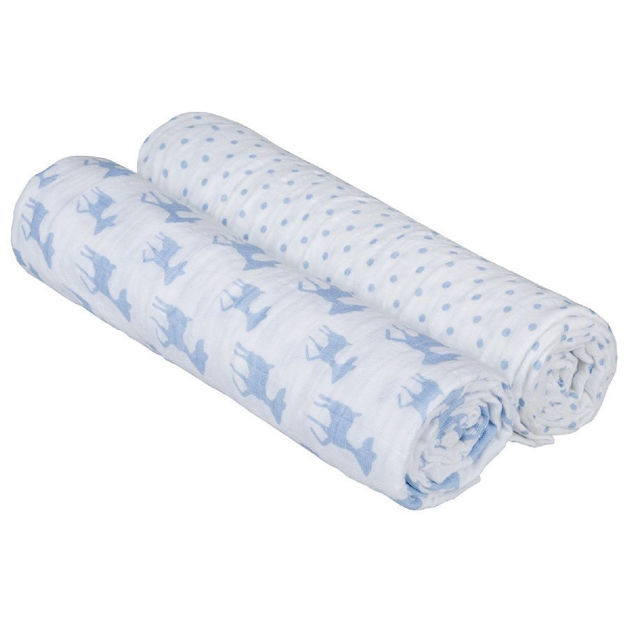 Lässig Hoitoliina Swaddle & Burp Lela Light Blue