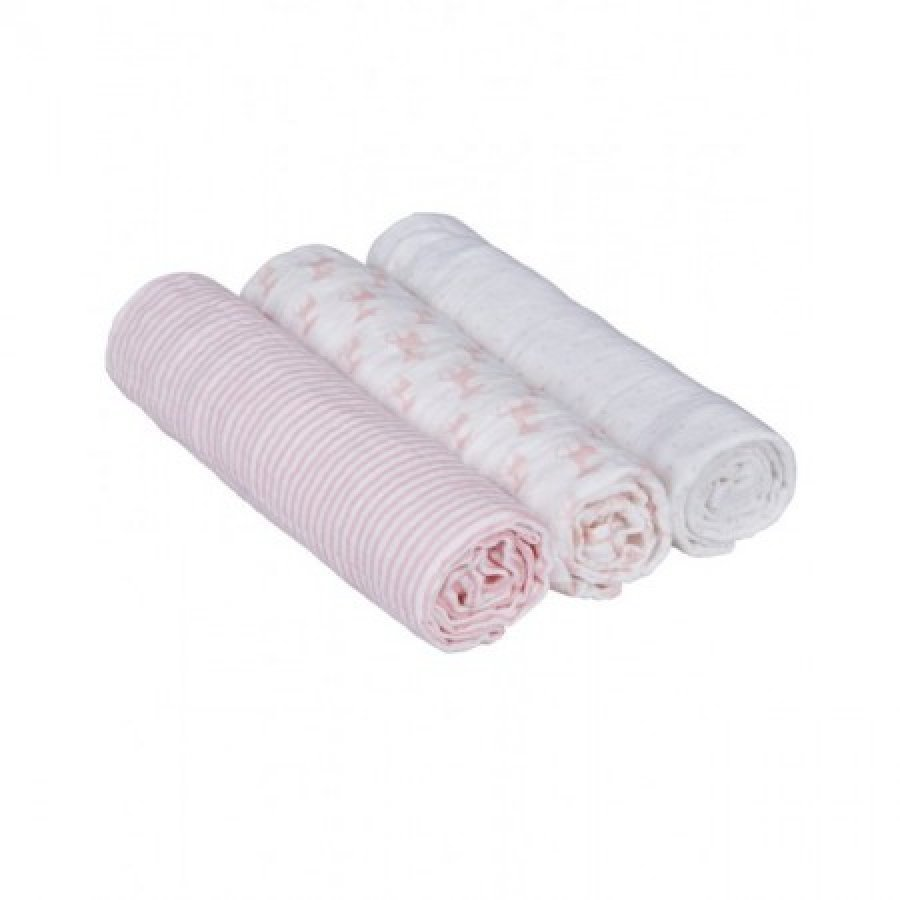 Lässig Hoitoliina Swaddle & Burp Lela Light Pink 3 Kpl