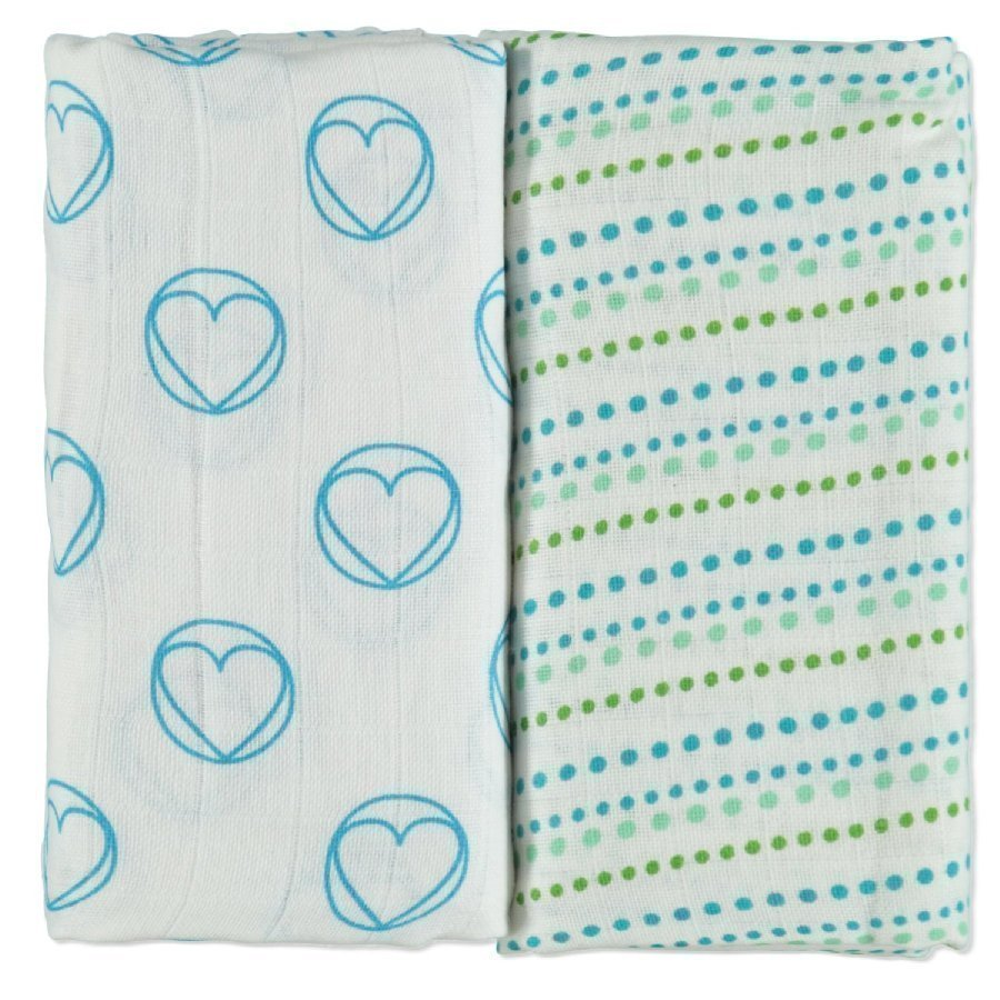 Lässig Hoitoliina Swaddle & Burp Peace & Dots Boys 120 X 120 Cm