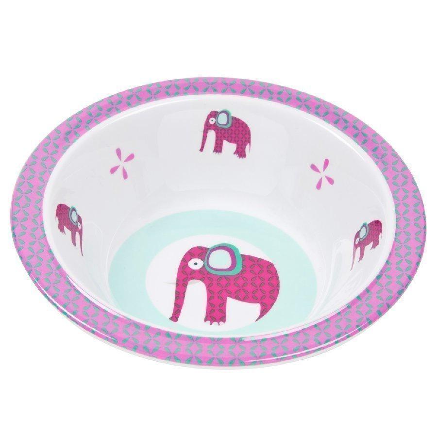 Lässig Melamiinikulho Silikonireunalla Wildlife Elephant