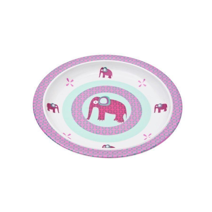Lässig Melamiinilautanen Silikonireunalla Wildlife Elephant
