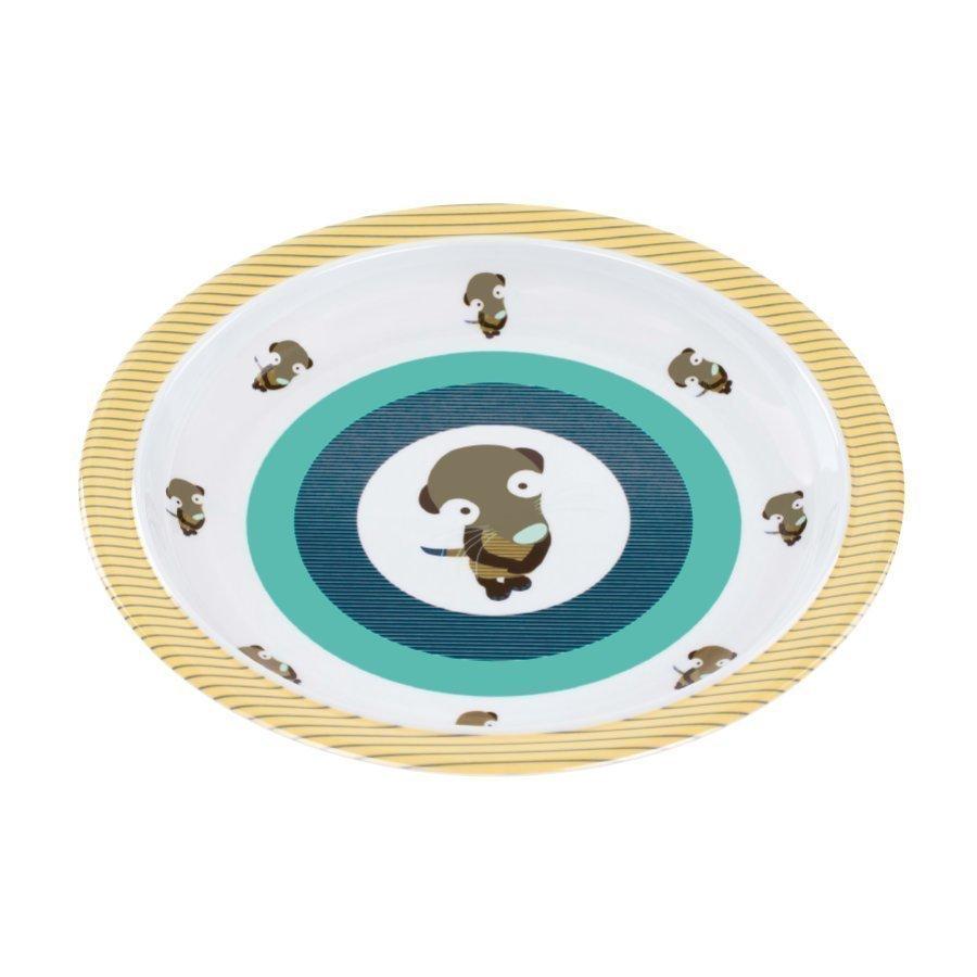 Lässig Melamiinilautanen Silikonireunalla Wildlife Meerkat