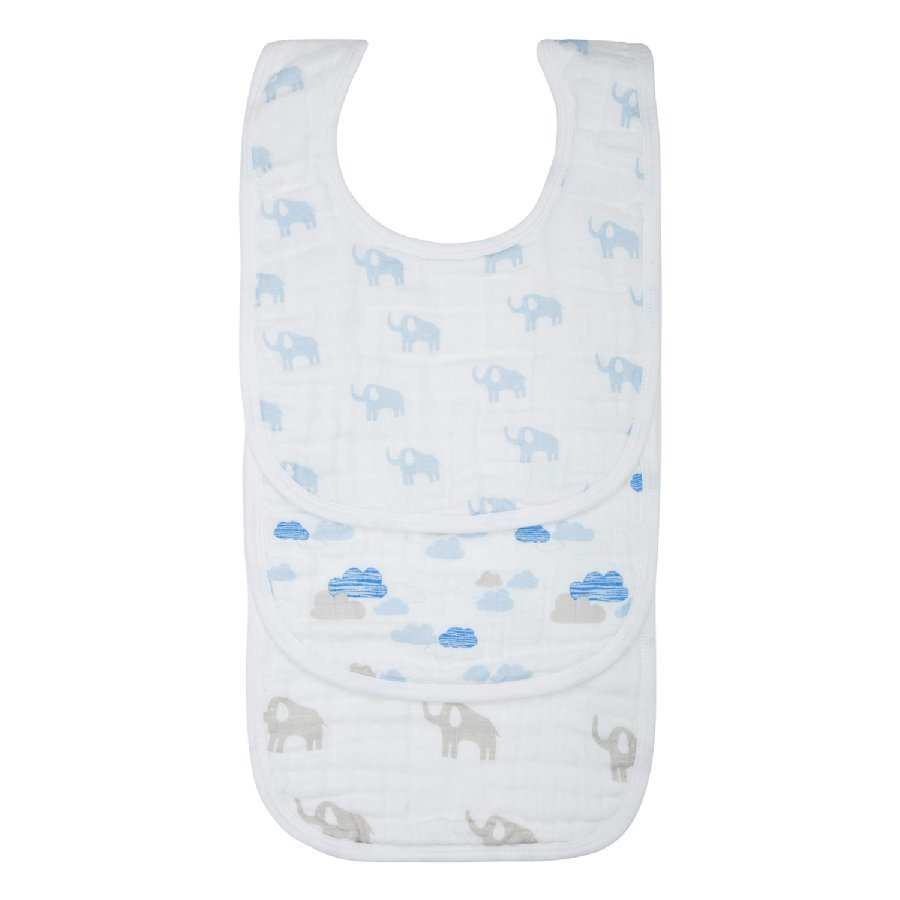 Lässig Ruokalaput Bib Value Pack Elephant & Clouds Boys 3 Kpl