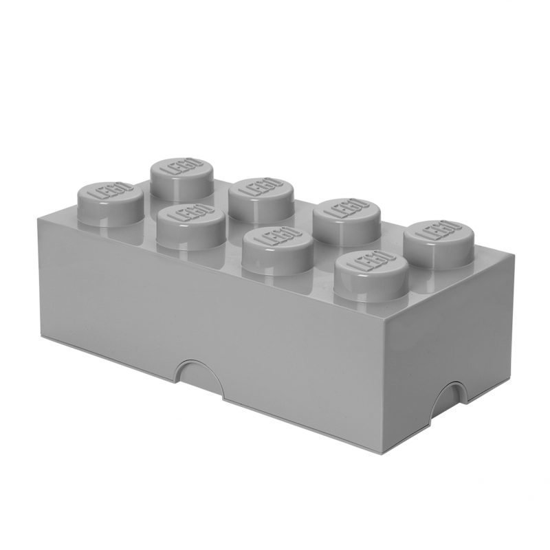 LEGO Säilytysrasia 8 Design Collection Stone Grey